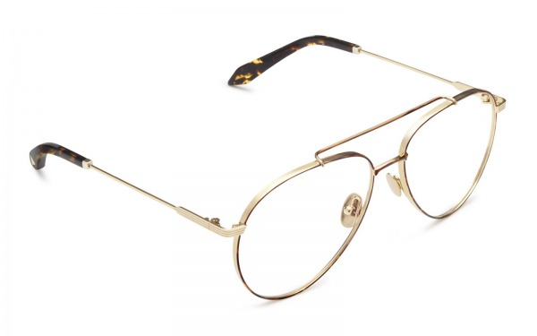 Grooved OPT Aviator Gold Havana