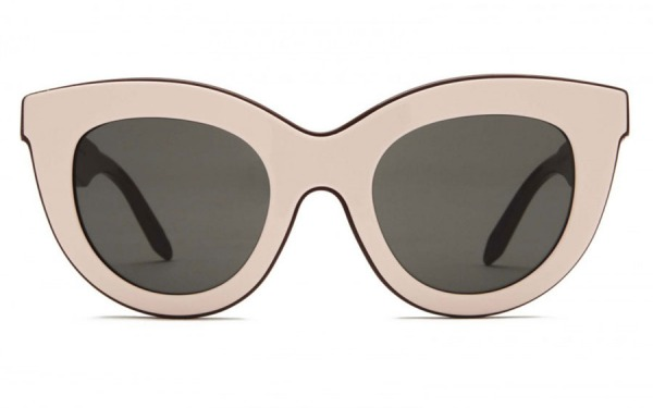 VICTORIA BECKHAM Layered Cat Pink Nut sunglasses