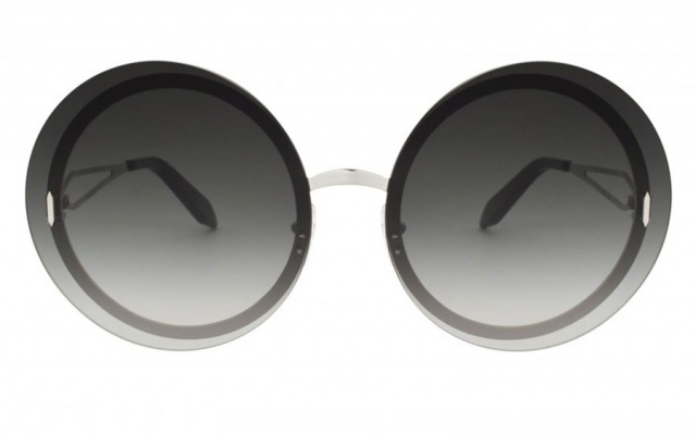VICTORIA BECKHAM Floating Round Black sunglasses
