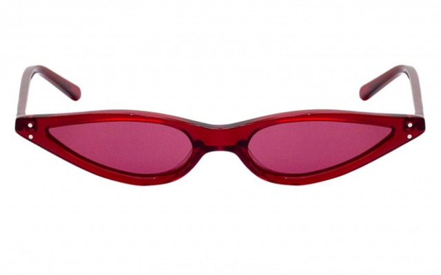 Small Scarlet Red Cat Eye sunglasses