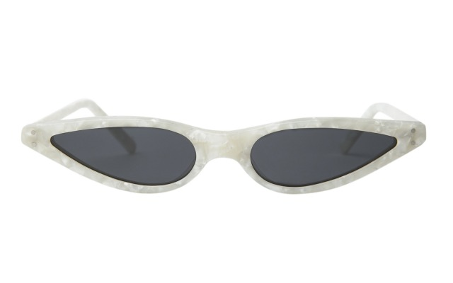 Small Pearl White Cat Eye