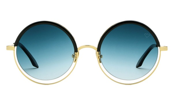 DECHIRICO Gold & Blue sunglasses