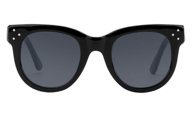 SHE LOVES YOU Black & Smoke sunglasses