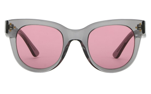 SHE LOVES YOU Grey & Light Burgundy sunglasses