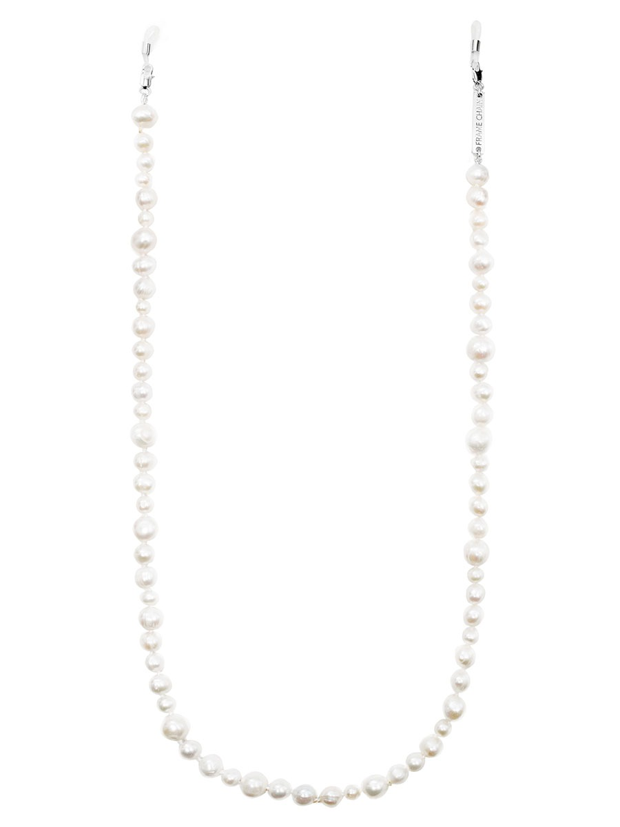 PEARLY QUEEN glasses chain in White Gold