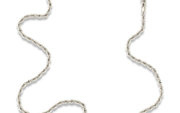 ROLLER CHAIN glasses chain in White Gold