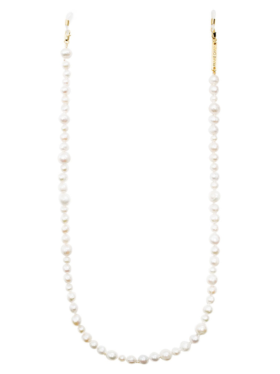PEARLY QUEEN glasses chain in Yellow Gold