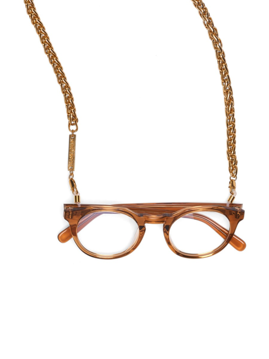 CHUNKY MONKEY glasses chain in Yellow Gold