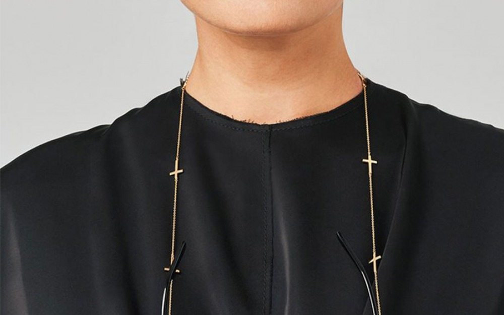 DIVINE glasses chain in Yellow Gold