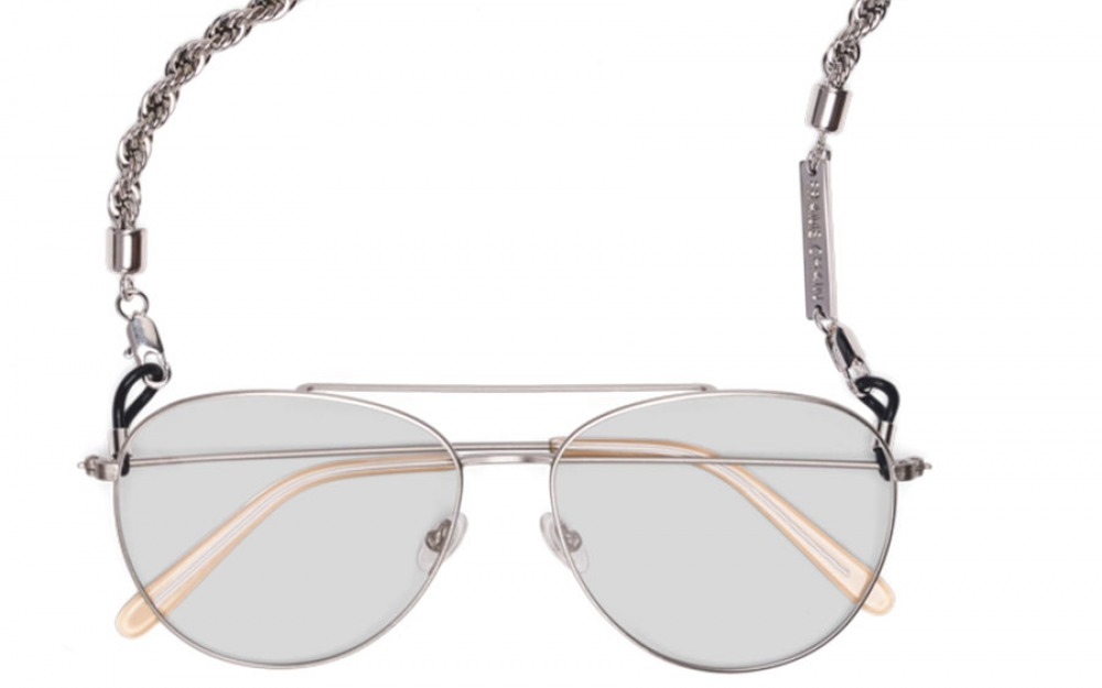 HEY SHORTY glasses chain in White Gold