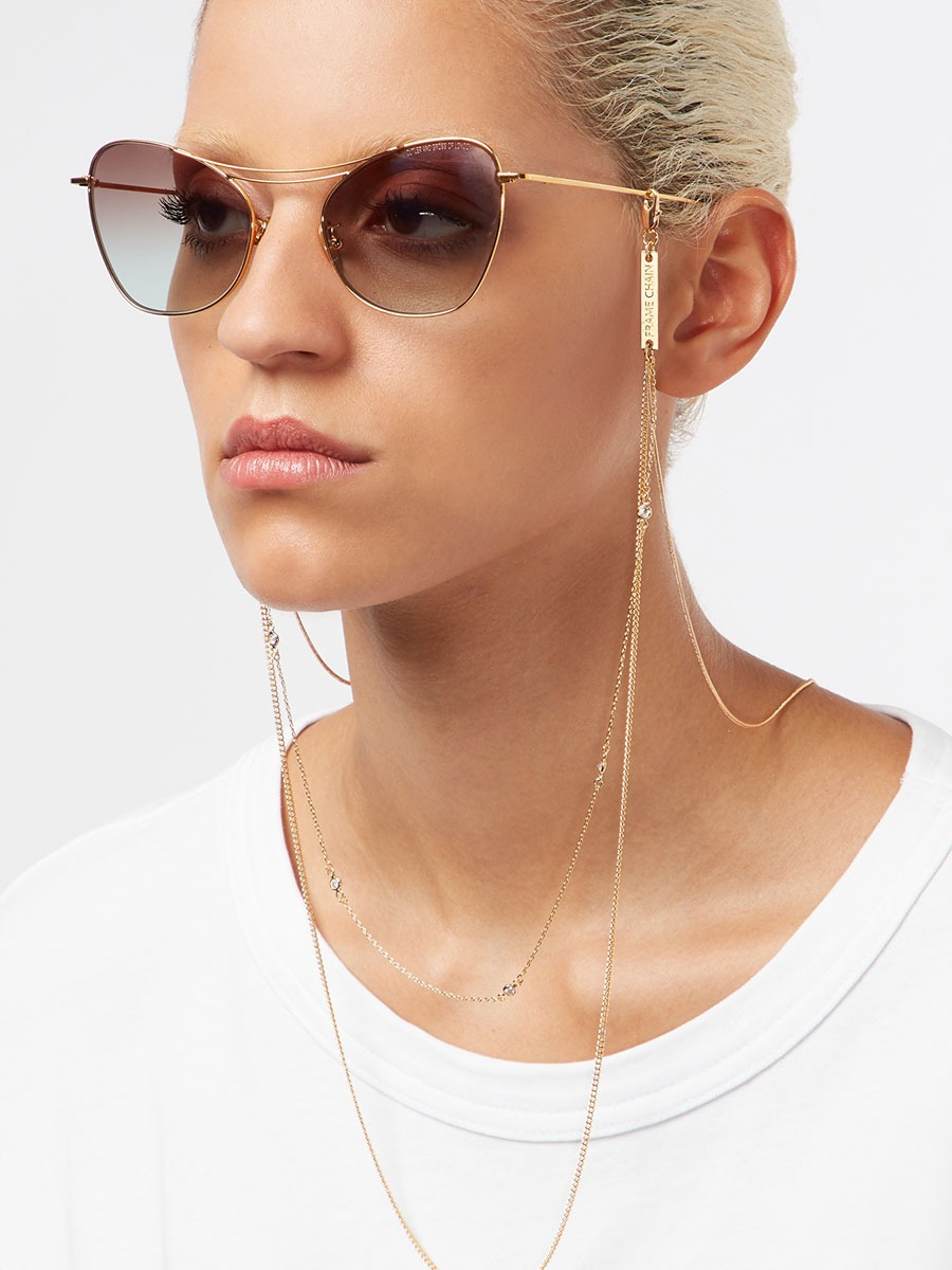 IN CHAINZ glasses chain in Yellow Gold