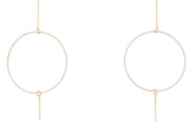 CIRCLE OF LUST glasses chain in Yellow Gold
