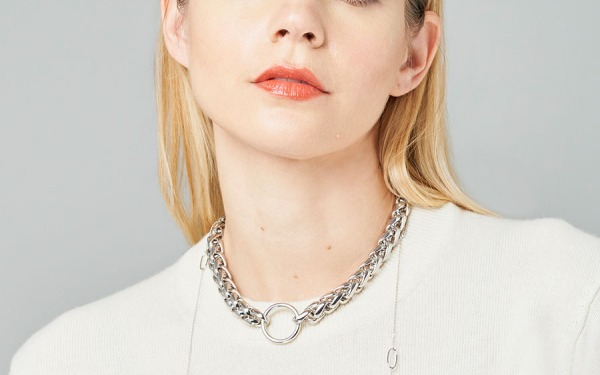 HOOKER MONKEY choker chain in White Gold