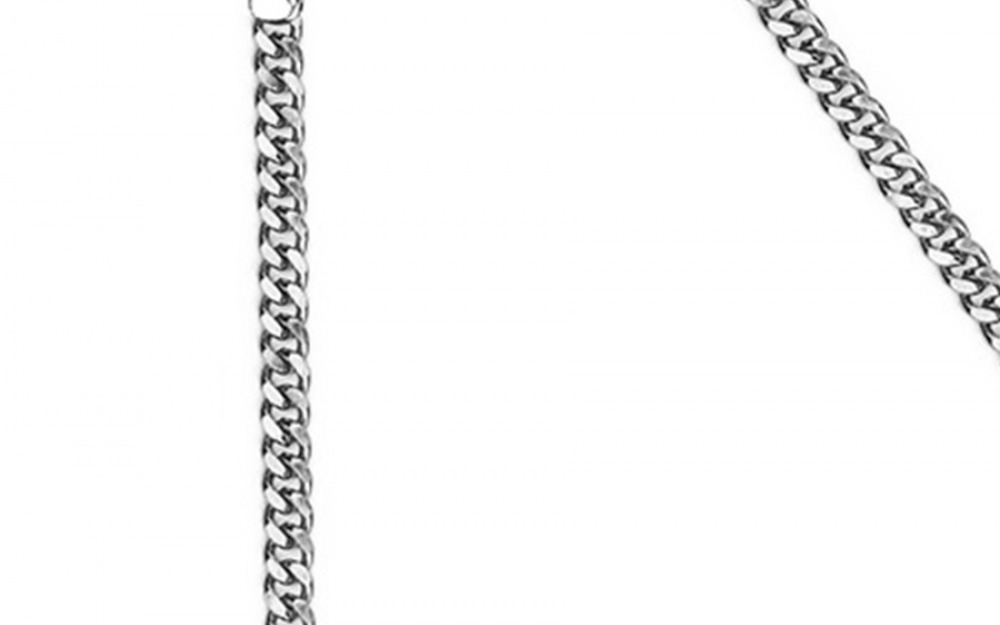 DIAMOND GEEZER glasses chain in White Gold