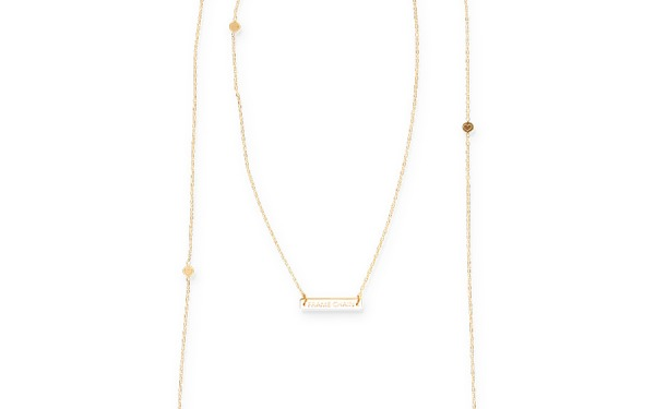 LOVE N PEACE glasses chain in Yellow Gold