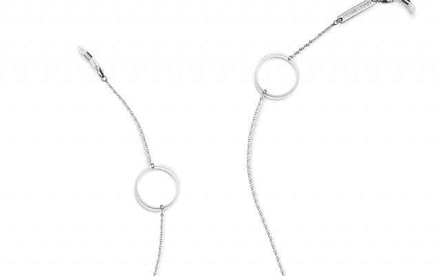 LOOP DE LOOP glasses chain in White Gold
