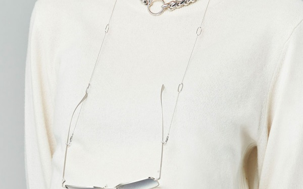 JACKIE OH glasses chain in White Gold