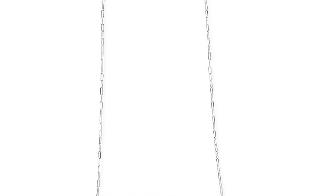 SQUARED glasses chain in White Gold