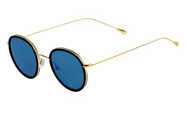 Morgan Flat Black & Blue Mirror sunglasses