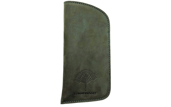 Forest Green classic leather glasses case