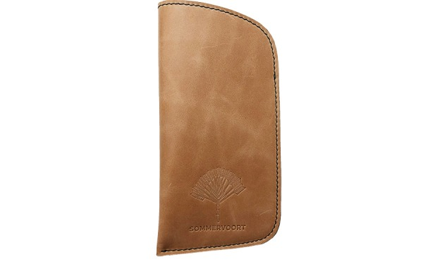 Camel classic leather glasses case