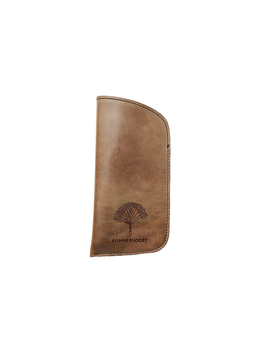 Rainy Sand classic leather glasses case