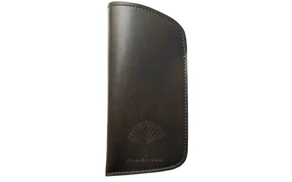 Dark Monstera Green classic leather glasses case