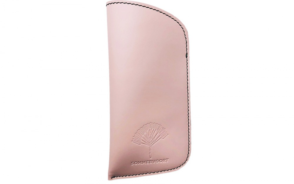 Pink Sorbet classic leather glasses case