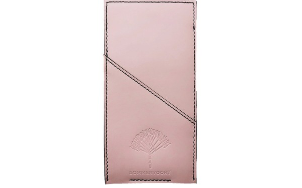 Pink Sorbet pocket leather glasses case