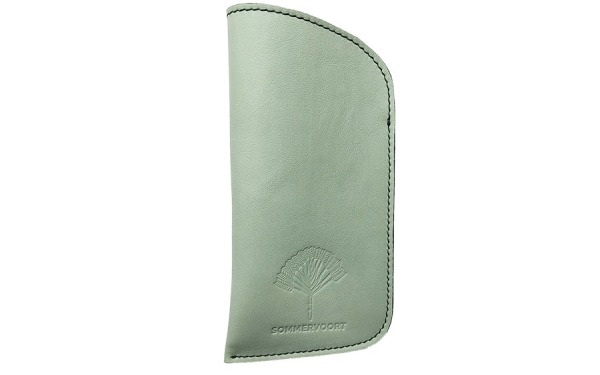 Mint classic leather glasses case
