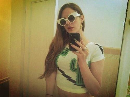 Lana Del Rey in Jeremy Scott Eyewear