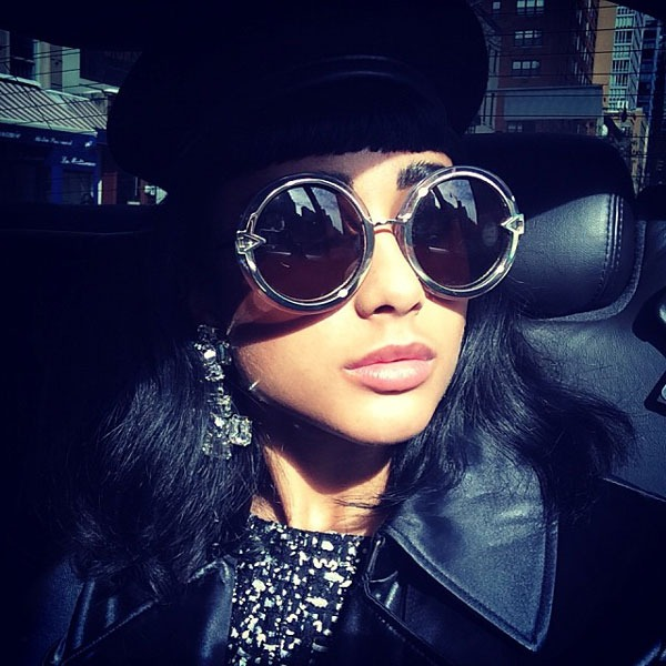 Natalia Kills in Karen Walker Eyewear