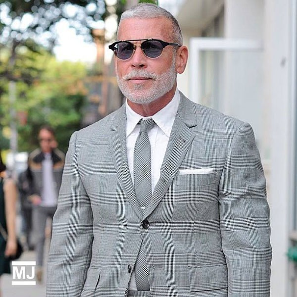 Nick Wooster in Thom Browne