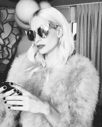 Poppy Delevingne in Linda Farrow Luxe