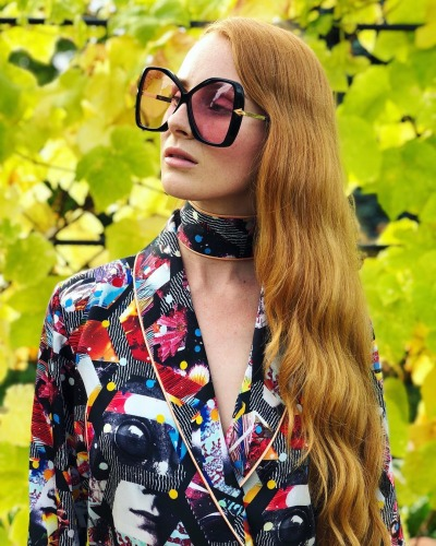 Vera Blue - Celia Pavey in Karen Walker
