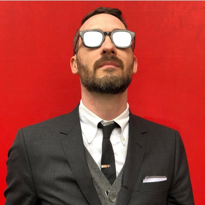 Rolf Springer in Thom Browne 412 sunglasses