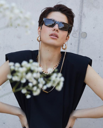 Maria Balan in Cutler and Gross and Frame Chain
